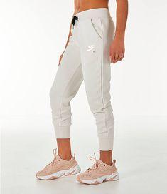 0c4d312e1935 Front Three Quarter view of Women s Nike Sportswear Air Jogger Sweatpants  in Phantom Black Fashion