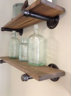 Rustic industrial plumbing pipe and reclaimed wood by gail22