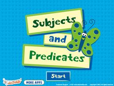 Subjects and Predicates for the iPad!