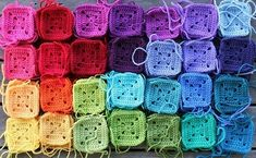 Oh, the temptation to buy a million different colors of yarn so I can make a rainbow blanket is great.