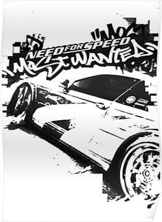 Need for Speed Most Wanted Poster Nfs Need For Speed, Need For Speed Games, Gtr Car, Ea Games, Speed Art, Video Game Rooms, Street Racing, Bmw E30, Car Drawings
