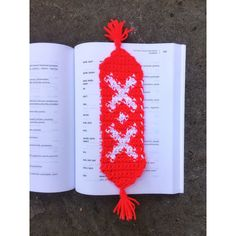 Crochet Bookmark Unique Handmade Ukrainian Folk Red White Tassels... ($19) ❤ liked on Polyvore featuring home, home decor, office accessories, handmade bookmarks and crochet bookmarks