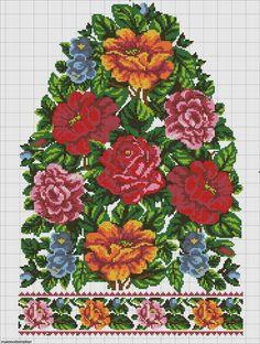 Beading _ Pattern - Motif / Earrings / Band ___ Square Sttich or Bead Loomwork ___ Russian Cross Stitch, Cross Stitch Rose, Cross Stitch Borders, Cross Stitch Flowers, Cross Stitch Designs, Cross Stitching, Cross Stitch Patterns, Crewel Embroidery, Cross Stitch Embroidery