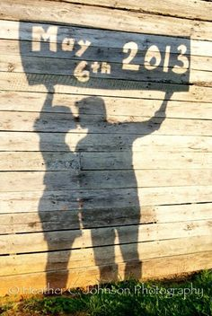Cardboard Cut Out Shadow Save The Date Photo Idea. 27 Cute Save the Date Photo Ideas Wedding Pics, Wedding Bells, Wedding Engagement, Engagement Photos, Our Wedding, Dream Wedding, Wedding Ceremony, Country Engagement, Rustic Wedding