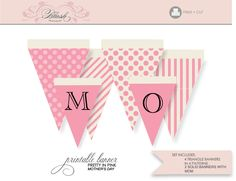 Blush: Inspiration and Design for the Modern DIY Bride Happy Birthday Template, Happy Birthday Mom, Hello Kitty Birthday, Happy Birthday Banners, Free Printable Banner, Printable Crafts, Printables, Printable Party, Mother's Day Banner
