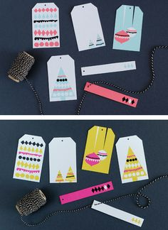 Brightly-Colored Gift Tags | 51 Seriously Adorable Gift Tag Ideas