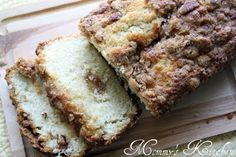 Mommy's Kitchen: Apple Pie Bread Apple Recipes, Sweet Recipes, Baking Recipes, Bread Recipes, Kitchen Recipes, Baking Breads, Just Desserts, Delicious Desserts, Yummy Food