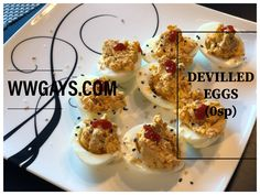 This classic party favourite now 0 points! Weight Watchers Diet, Head Of Cauliflower, Maple Bacon, Turkey Bacon, Roasted Red Peppers, Deviled Eggs, Roasted Garlic, Greek Yogurt, Gourmet
