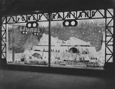 Vintage Christmas Photograph ~ Lionel Train Land Christmas window display from the Household Outfitting Company * Scranton, PA. * ©1952 (You can click through to see an enlarged version of the photo. They show great detail.)