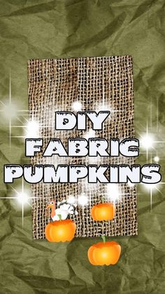 Fabric pumpkins can be sewing crafts that are as easy - or as intricate - as you prefer them to be. But the one thing that stays the same no matter the design: you can personalize them through fabric choices, pattern options, and accessories (stems, leaves, etc) any way you want to. As with most craft and sewing projects, there's a specific order that you need to follow in order to make your own fabric pumpkin.I hope you loved seeing all the different ideas and options for making fabric… Sewing Hems, Sewing Pockets, Sewing Elastic, Sewing Pants, Sewing Clothes, Sewing For Dummies, Sewing Projects, Diy Projects, Fabric Pumpkins