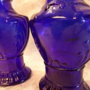 Vintage Cobalt Blue Frank Tea & Spice Co. Salt & Pepper Shakers
