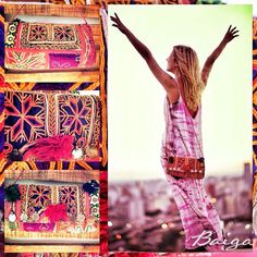 EVERY LITTLE THING IS GONNA BE ALRIGHT #baiga #bags #clutch #cartera #sobre #colores #indian #hindu #landscape #paisaje #wow #pretty #beauty #design #moda #fashion #style #ootd #look  BELLA CLUTCH