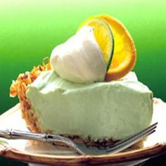 lime pie- SO sweet for a spring or summer baby shower!