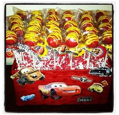 trendy cars cake for boys party themes Cars Cake Pops, Cars Theme Cake, Car Themed Parties, Cars Birthday Parties, Party Themes For Boys, Car Themes, Toy Story Birthday, 3rd Birthday, Car Cakes For Boys