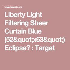 "Liberty Light Filtering Sheer Curtain Blue (52""x63"") Eclipse™ : Target"
