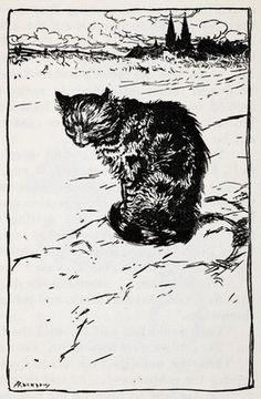 A cat by Arthur Rackham - print