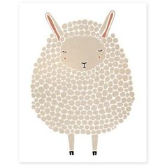 The Curly Sheep Illustration