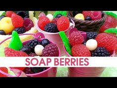 DIY Soap berries - How to make soap embeds - Soap making - YouTube