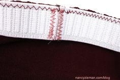 When adding elastic to knits, you'll find this, by far, the simplest way to a sew casing.