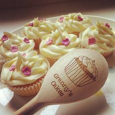 personalised wooden cupcake spoon by auntie mims | notonthehighstreet.com