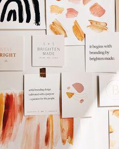 Brighten Made Branding - Moodboard Inspiration - Design Web Design, Logo Design, Graphic Design Branding, Modern Graphic Design, Identity Design, Graphic Design Inspiration, Packaging Design, Print Design, Visual Identity