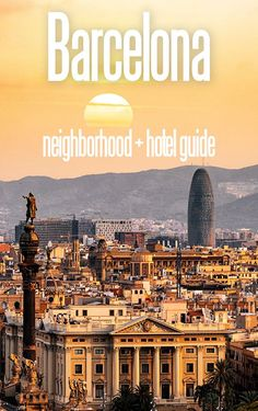 The complete guide to Barcelona neighborhoods for solo travelers. Featuring the Barri Gotic, El Born, El Raval, Eixample and Barceloneta, we cover the best hotels and most insteresting sights in each district. Europe Travel Guide, Spain Travel, Travel Guides, Travel Abroad, France Travel, Budget Travel, Places To Travel, Travel Destinations, Travel Deals
