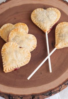 Cherry Jam Heart Pie Pops is the perfect crusty treat on a stick.