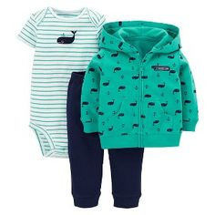 Just One You™Made by Carter's® Newborn Boys' 3 Piece Whale Set - Green from Target. Baby Outfits Newborn, Baby Boy Newborn, Baby Boy Outfits, Cute Little Boys, Little Babies, Kids Boys, Baby Kids, Carters Clothing, Target Baby