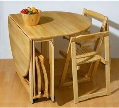 Delicieux Mesas Y Sillas Plegables Small Space Dining Set, Space Saving Dining Table,  Kitchen Table