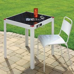 Outdoor solar charging table