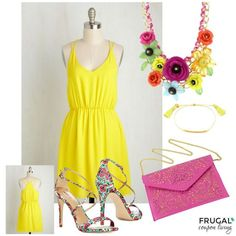 Feeling the love on this Cents of Style Statement Necklace? We paired with a ModCloth dress to make the perfect Neon Outfit this Frugal Fashion Friday on Frugal Coupon Living.