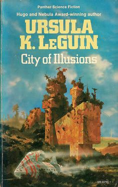 City of Illusions by Ursula K. Cover art by Chris Foss. Fantasy Book Covers, Book Cover Art, Fantasy Books, Book Art, Fantasy Art, Classic Sci Fi Books, Sci Fi Novels, Fiction Novels, Pulp Fiction