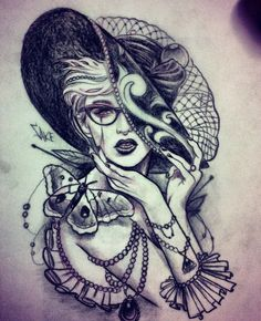 Moth Lady, in love with this! would like to modify for my half sleeve!