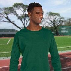 Russell Athletic-Cotton Long-Sleeve T-Shirt-68914M