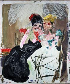 Les vieilles, huile sur toile, 217 x 180 cm, 2007