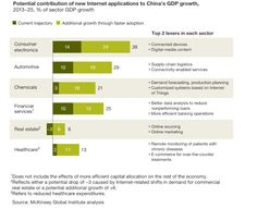 Potential contribution of new Internet applications to China's GDP growth