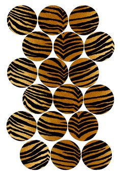 "Tiger Stripes Bottle cap image pack Formatted for printing on 4"" x 6"" photo paper"
