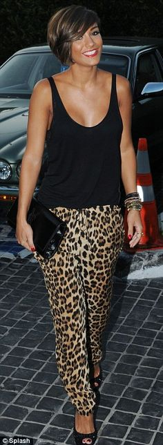 Frankie Sandford rocking Leopard. She is effing adorable.