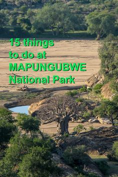 15 things to do at Mapungubwe National Park. Author of A Walk in the Park (about road tripping around South Africa's national parks) shares her hints. Find the ebook on Amazon https://www.amazon.com/gp/product/B017ZZ56SI/