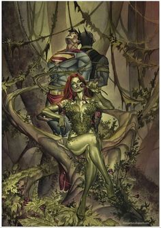 Poison_Ivy___Watercolor_and_PS_by_taguiar aka Thony Silas Dias de Aguiar