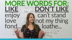 English Vocabulary: other words for LIKE and DON'T LIKE Repinned by Chesapeake College Adult Ed. We offer free classes on the Eastern Shore of MD to help you earn your GED - H.S. Diploma or Learn English (ESL). www.Chesapeake.edu