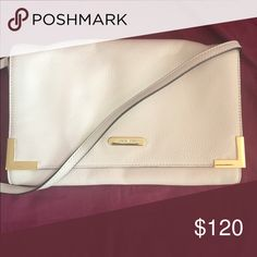 Michael Kors Shoulder Bag Ivory / cream evening bag by Michael Kors. Bought this second hand but haven't used it since I mostly wear dark colors. Great condition.  Can be used as a clutch as well. No trades Michael Kors Bags Shoulder Bags