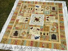 The quilting on this quilt is breathtaking. It is worth your time to check this blog entry out.