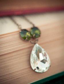 Wedding Jewelry - Etsy, Green Necklace