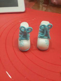 Ski shoes made with fondant