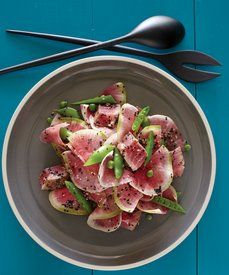 Ahi Tuna, Snap Pea and Watermelon Radish in Ginger Vinaigrette: From 'The Lemonade Cookbook' by Alan Jackson with Joann Cianciulli