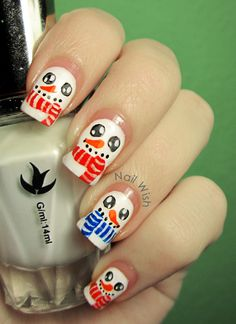 Nail Wish snowman  Christmas #nail #nails #nailart
