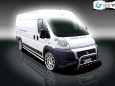 FIAT-DUCATO-RELAY-JUMPER-BOXER-BULL-BAR-CHROME-AXLE-NUDGE-A-BAR-60mm-2014-Up