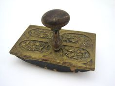 Antique Brass Ink Blotter by VintageInBloom on Etsy, $33.00