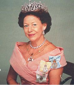 Princess Margaret wearing the Royal Victorian Chain.